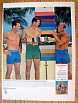 Click to view larger image of 1966 Jantzen Swim Trunks w/Frank Gifford & Jerry West (Image1)