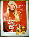 Click to view larger image of Vintage Ad: 1973 Breck Shampoo with Linda Tonge (Image1)