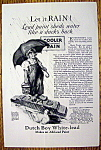 1926 Dutch Boy White Lead Paint w/Dutch Boy & Umbrella