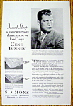 1929 Simmons Mattress with Gene Tunney