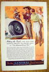 Click to view larger image of 1934 General Tire with Cowboy Man Riding On Horse (Image2)