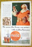 Click to view larger image of 1934 Coca Cola (Coke) with Santa Claus Holding Glass (Image1)