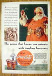 Click to view larger image of 1934 Coca Cola (Coke) with Santa Claus Holding Glass (Image2)
