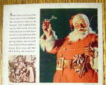 Click to view larger image of 1934 Coca Cola (Coke) with Santa Claus Holding Glass (Image3)