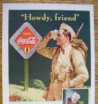 Click to view larger image of 1942 Coca Cola (Coke) with Soldier Wiping His Forehead (Image3)