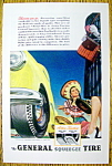 Click to view larger image of 1947 General Squeegee Tire with Woman Selling Sombreros (Image1)
