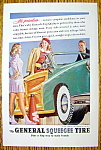 1947 General Squeegee Tire with Woman in a Car Talking