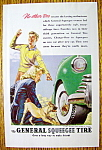 1947 General Squeegee Tire with Boy & Girl Watching Dog