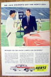 Click to view larger image of 1958 Hertz Rent a Car with Jack Kramer (Image1)