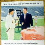 Click to view larger image of 1958 Hertz Rent a Car with Jack Kramer (Image2)