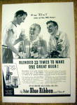 1940 Pabst Blue Ribbon Beer
