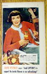 Click to view larger image of 1948 Lipton Tea with Jane Wyman (Image2)