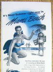 Click to view larger image of Vintage Ad: 1949 Miami Beach (Image2)