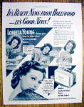 Click to view larger image of Vintage Ad: 1951 Lux Soap with Loretta Young (Image1)