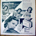 Click to view larger image of Vintage Ad: 1951 Lux Soap with Loretta Young (Image2)