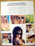 Click to view larger image of 1968 Foster Grants Sun Glasses with Raquel Welch (Image1)
