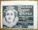 Click to view larger image of Vintage Ad: 1899 White Label Queen Olives (Image1)