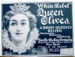 Click to view larger image of Vintage Ad: 1899 White Label Queen Olives (Image2)