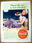 Click to view larger image of 1940 Coca Cola (Coke) with Woman Sailor (Image1)