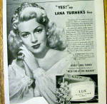 Click to view larger image of 1945 Lux Toilet Soap with Lana Turner (Image2)