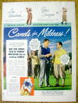 Click to view larger image of 1949 Camel Cigarettes with Lew Worsham/Gene Sarazen (Image1)