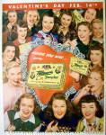 Click to view larger image of 1947 Whitman Sampler Chocolates with Women & Candy  (Image2)