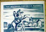 Click to view larger image of 1947 Trail Street With Bat Masterson By Peter Hurd (Image2)