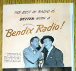 Click to view larger image of 1947 Bendix Radio with Jimmy Durante & Gary Moore (Image2)