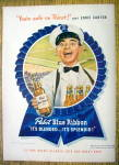 Click to view larger image of 1947 Pabst Blue Ribbon Beer with Eddie Cantor (Image1)