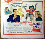 Click to view larger image of 1949 Post Grape Nuts Cereal (Image2)