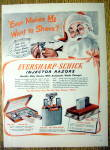1949 EverSharp Schick Injector Razor with Santa Claus
