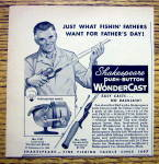 1959 Shakespeare Wondercast Fishing Reel with Dad