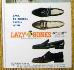 Click to view larger image of 1966 Lazy Bones Shoes w/ Girl Standing & Holding Books (Image3)