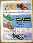 Click to view larger image of Vintage Ad: 1949 Poll-Parrot Shoes (Image1)
