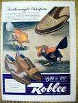 Click to view larger image of Vintage Ad: 1942 Roblee Shoes for Men (Image1)