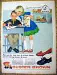 Click to view larger image of VIntage Ad: 1958 Buster Brown Shoes by Alex Ross (Image1)