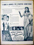 Ad: 1943 Lady Of Burlesque w/Barbara Stanwyck