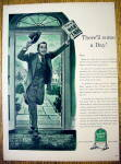 Click to view larger image of 1944 Quaker State Motor Oil with Man with Newspaper (Image2)