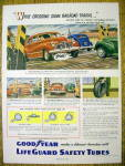Click to view larger image of 1949 Goodyear Life Guard Safety Tubes w/ Car & Flat (Image1)