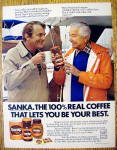 Click to view larger image of 1979 Sanka Coffee with Robert Young & Man Talking (Image1)