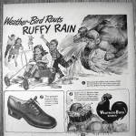 Click to view larger image of 1945 Weather Bird Shoes with Ruffy Rain & Children (Image2)