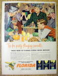 Click to view larger image of Vintage Ad: 1949 Florida Canned Orange Juice (Image1)