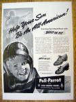 Click to view larger image of 1942 Poll Parrot Shoes with Little Boy Wearing Helmet (Image1)