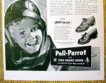 Click to view larger image of 1942 Poll Parrot Shoes with Little Boy Wearing Helmet (Image2)