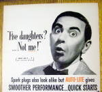 1952 Auto Lite Spark Plugs with Eddie Cantor