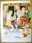 1957 Watkins Vitamins with Family On Merry Go Round