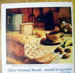Click to view larger image of 1959 Aunt Jemima Oatmeal Bread Mix with Oatmeal Bread (Image2)