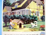 Click to view larger image of 1959 Johns Manville Sidewalls with Boy Siding Dog House (Image2)