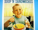 Click to view larger image of 1960 Campbell's Chicken Noodle Soup with Little Boy (Image2)