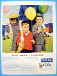 1960 GMAC Plan with Three Children Carrying Balloons